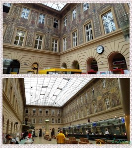 Прага. Здание почтамта изнутри