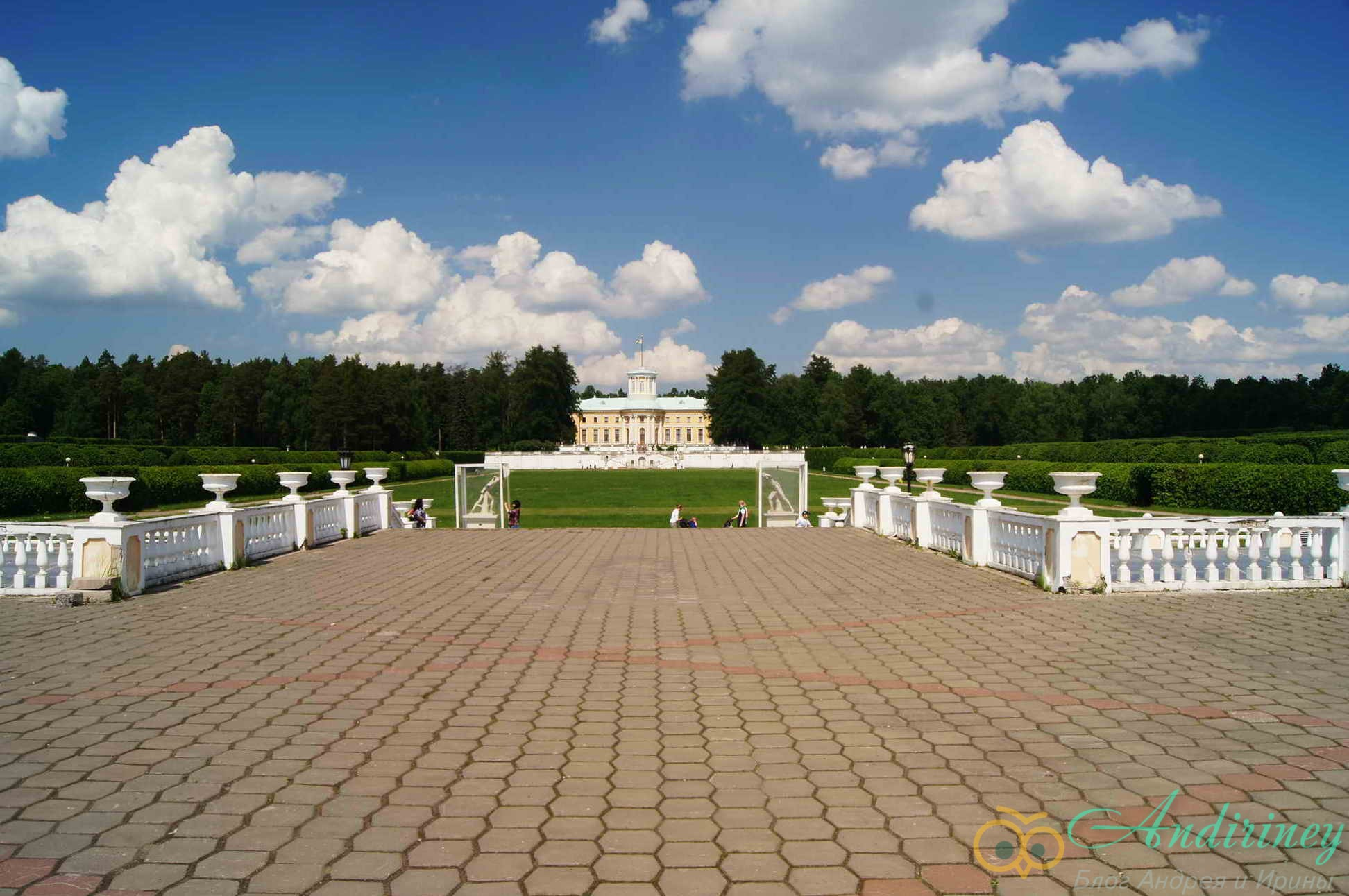 Вид на парк и дворец