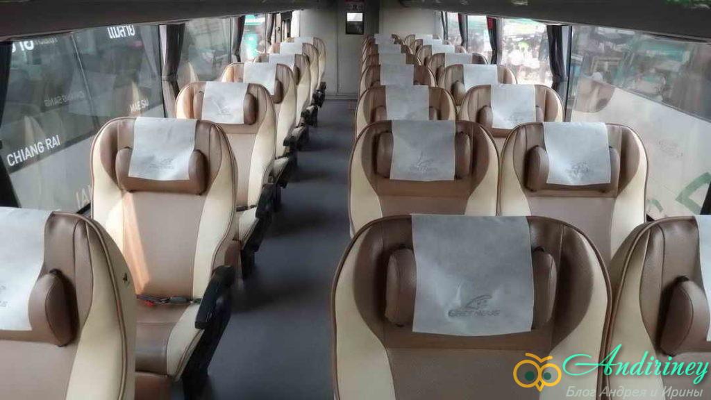 Интерфейс VIP автобуса