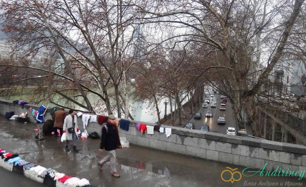 Тбилися в январе. Сухой мост