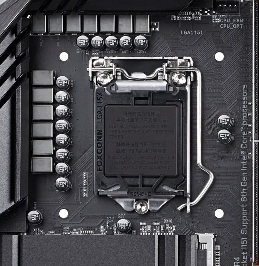 Анатомия материнской платы - процессорный сокет