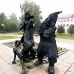 Памятник Робинзону Крузо. Тобольск