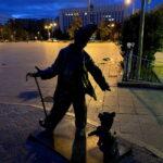 Карандаш и Клякса. Памятник в Тюмени