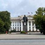 Памятник Ленину. Тюмень